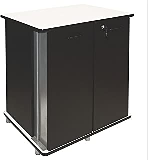 Vertiflex 35157 29-1/4 by 21 by 33-Inch Refreshment Stand with 2 Doors, Black/White