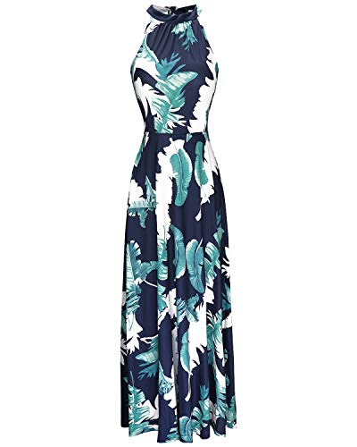 Features: Casual Style, Elegant Dress, Sleeveless, Halter Neck, Off Shoulder, Empire Waisted, Floor Length, Solid Color/ Floral Printed, Slim Fit, Adjustable Straps, Maxi Long Dress, Wedding Dress, Cocktail Dress, Beach Dress, Perfect for Spring and ...