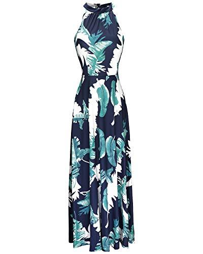 STYLEWORD Women's Off Shoulder Elegant Maxi Long Dress(Floral 01,M)