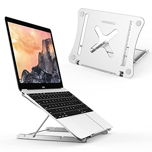 ANSGEC Supporto pc Portatile, Laptop Stand Tutto Alluminio Stabile, Protezione AntiGraffio, Supporto pc 12 Angoli Regolabile, Leggero Supporto Notebook per MacBook, dell, XPS, HP, Lenovo/Altri 11-17'