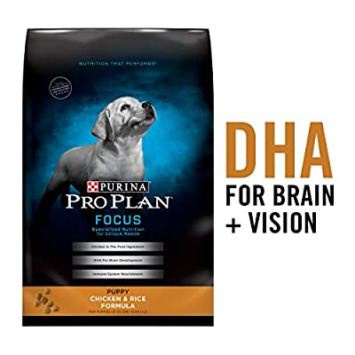 Purina Pro Plan Dry Puppy Food, Chicken and Rice Formula, 34-Pound Bag, (Model: 00038100132703)