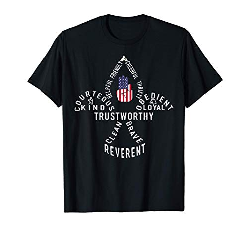 America Flag Scouting law T-Shirt