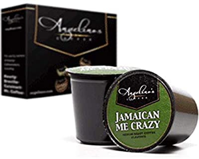 Angelino's Coffee 48 K-Cups Pods Capsules Count For KEURIG 2.0 Machines Light / Medium / Dark Roast ALL FLAVORS (48 Cups Jamaican Me Crazy (Flavored))