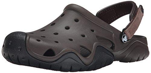 Crocs Crocs Swiftwater Clog Men, Herren Clogs, Braun (Espresso/Black), 41/42 EU
