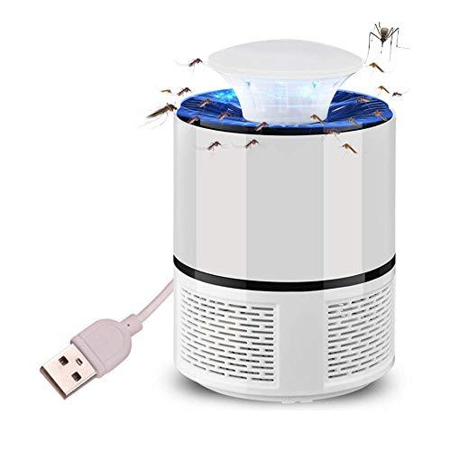 htovila Mückenlampe, elektrisches Moskitoneuchte, starke Windanziehung, Lichthärtung, energiesparend, leise, ungiftig, keine Strahlung, Typ USB weiß