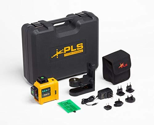 Pacific Laser Systems 3X360 Green line laser level kit w/RBP5, Case, and L-Bracket, PLS 3X360G KIT