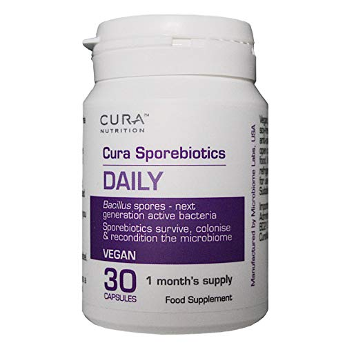 Cura Sporebiotics | Probiotic Supplement for Gut Health | 30 Capsules