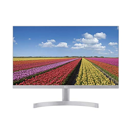 LG 24MK600M-W - Monitor FHD de 60,4 cm (23,8') con Panel IPS (1920 x 1080 píxeles, 16:9, 250 cd/m², NTSC 72%, 1000:1, 5 ms, 75 Hz) Color Negro/Plata/Blanco