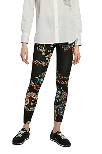 Desigual Womens Legging_Galactic Casual Pants, Black, M