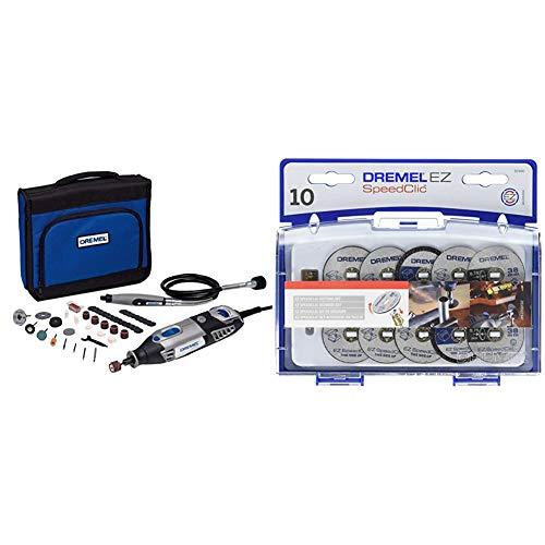 Dremel 4000 - Multiherramienta, 175 W, kit con 1 complemento, 45 accesorios + SC690 Juego de Accesorios de Corte EZ SpeedClic para Herramientas Rotatorias