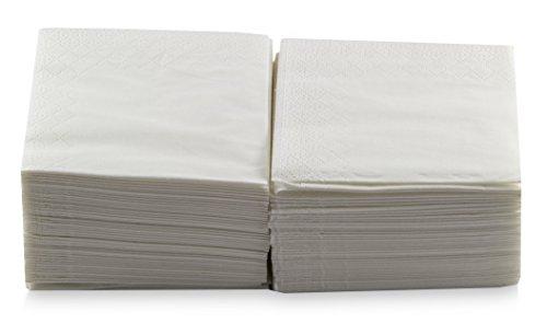 Morigami Coktail, Servilleta 20x20, 2 capas, pliegue 1/4, 100 servilletas, lisa con cenefa Blanca
