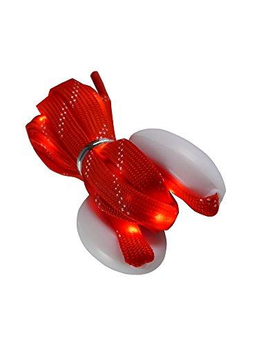 grau.zone leuchtender und blinkender LED-Schnürsenkel Rot L=123cm