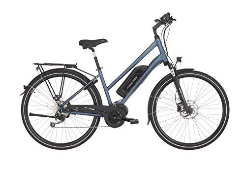 Fischer Damen - E-Bike Trekking ETD 1820, saphirblau matt, 28 Zoll, RH 44 cm, Mittelmotor 50 Nm, 48 V Akku
