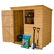 Superior shiplap tongue and groove construction with watertight interlocking smooth-planed boards Single window glazed with unbreakable polycarbonate, fixed with security screws Door braced with double Z framing for added strength and hidden door hin...