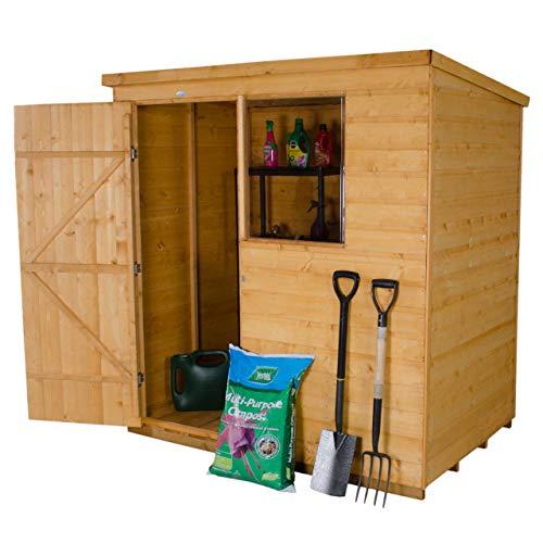 Forest Garden 6 x 4 Pent Shiplap Dip Treated Wooden Garden Shed