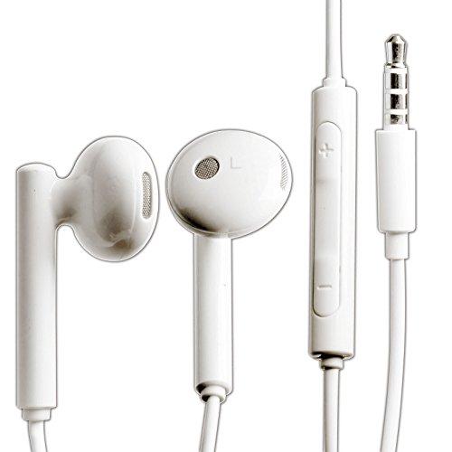 Original Huawei Headset AM-115 in weiß für Huawei Ascend G300 / G330 Kopfhörer mit Lautstärkeregler und Micro