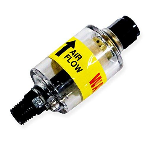 Lematec Kompressor Filter Wasser Ölabscheider mit Ablassventil. Für Druckluftwerkzeuge, Plasmaschneider und Luftleitungen. Durch. (ZN-312)