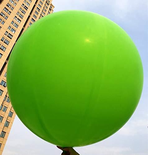 GuassLee 5 Globos Grandes - Globos Redondos de 36 Pulgadas - Globos Extra Grandes y Gruesos Globos de látex Gigantes Reutilizables, sesión de Fotos y Festivales Decoraciones de Navidad (Verde)