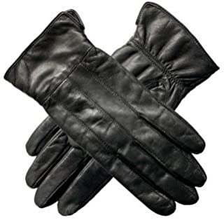 Womens Patch Leather Gloves With Fleece Lining
