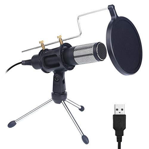 TWDYC Micrófono de Condensador Profesional para computadora con Soporte para teléfono PC USB Karaoke Mic