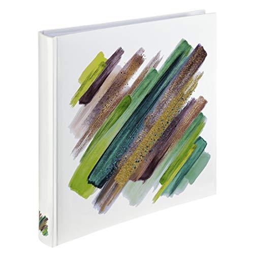 Hama Fotoalbum Jumbo 30x30 cm (Fotobuch mit 80 weißen Seiten, Album für 320 Fotos zum Selbstgestalten und Einkleben) grün-weiß