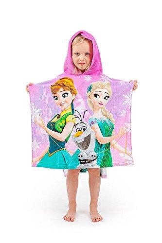 Jerry Fabrics Meisjes met capuchon poncho handdoek Frozen 1 120 x 60 cm multicolor