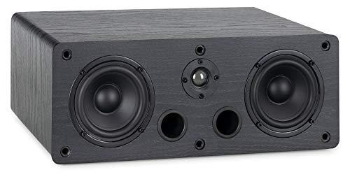 McGrey CS-440 BK Regal Lautsprecher - Multifunktions Satelliten HiFi Box für Surround-System, Musik und Heimkino - 2-Wege Full-Range Center Lautsprecher mit 40W RMS Leistung - Schwarz