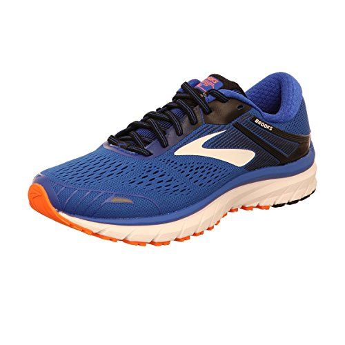 Brooks Mens Adrenaline GTS 18 Running Shoe Blue/Black/Orange, 11
