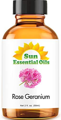 Rose Geranium Essential Oil (Huge 2oz Bottle) Bulk Rose Geranium Oil - 2 Ounce