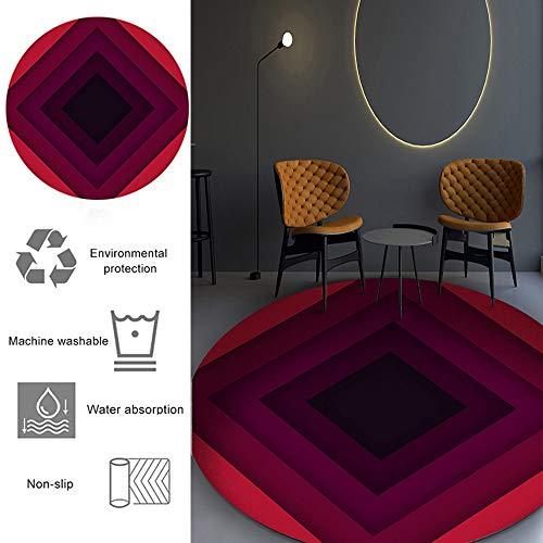 Runde Bodenmatte Stuhlunterlage gradienten Rhombus Muster, Bürostuhl Unterlage für Büro und zu Hause Schreibtisch Stühle rutschfeste, Bürostuhlunterlage Bodenschutzmatte