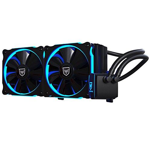 Nfortec Hydrus 240 Blue - Refrigeración Líquida, color negro