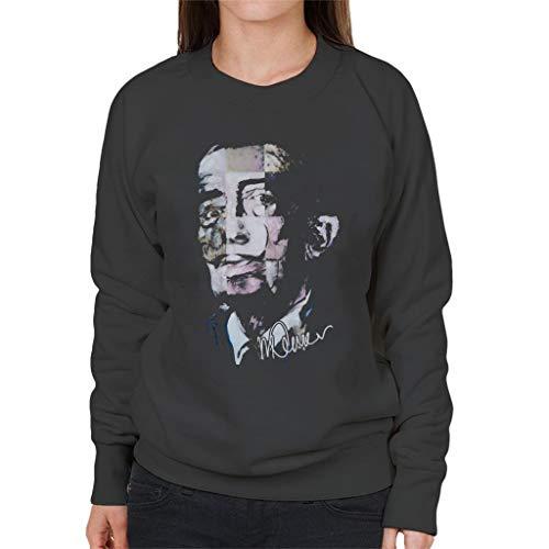VINTRO Salvador Dali Pop Art Dames sweatshirt oorspronkelijke portret van Sidney Maurer