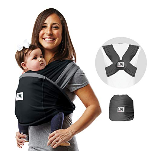Baby K'tan Active Baby Wrap Carrier, Infant and Child Sling - Simple Pre-Wrapped Holder for Babywearing - No Tying or Rings - Carry Newborn up to 35 Pound, White, X-Large (Women 22-24 / Men 47-52)