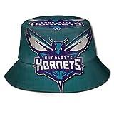 DDONEA Charlotte Logo Hornets - Sombrero unisex de pescador vintage, reversible, color negro