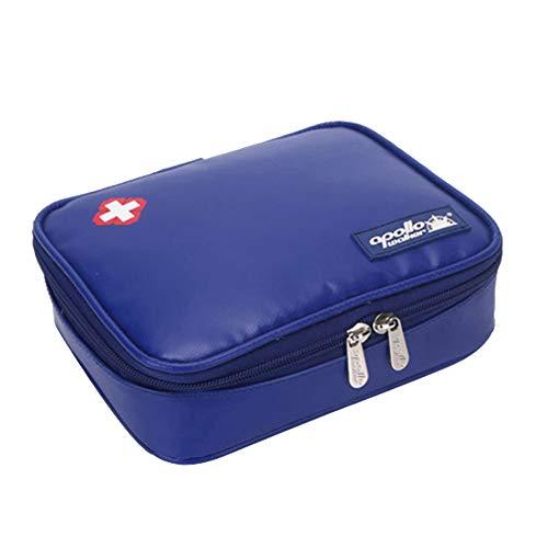 Apollo Walker Insulin Cool Travel Case, 2 Ice Packs Organizer Medical Cooler Bag Keeps Diabetics Medication Cool (Dark Blue)