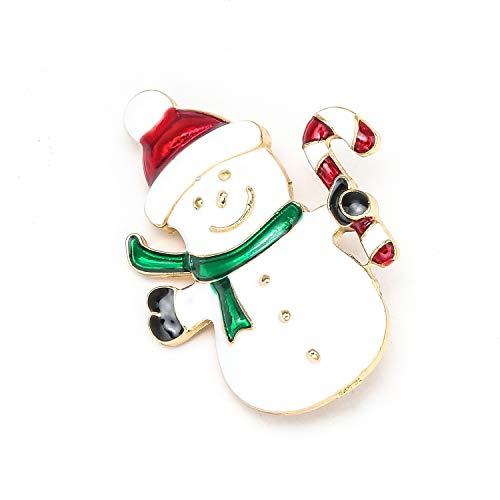Hotmoment-uk - Spilla a forma di stivaletti natalizi con Babbo Natale e scarpe con strass e Cristallo, colore: Bh014.