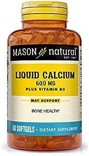 Mason Liquid Calcium 1,200 mg with D3 400 IU 60 softgels by Mason Natural