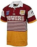 Rugby Jersey, 1992 Broncos Brisbane Retro Rugby Fans Shirt, Mens Rugby T-Shirt, 1995 Retro Edition Rugby Uniform, Training Polo Shirt, Men's Rugby Fans T-Shirt Short-Sleeved Casual T-Shirts L 1992