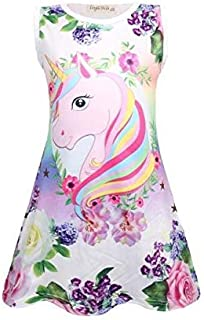 Unicorn A-line Dress, Loose And Breathable Casual Nightdress For Girls