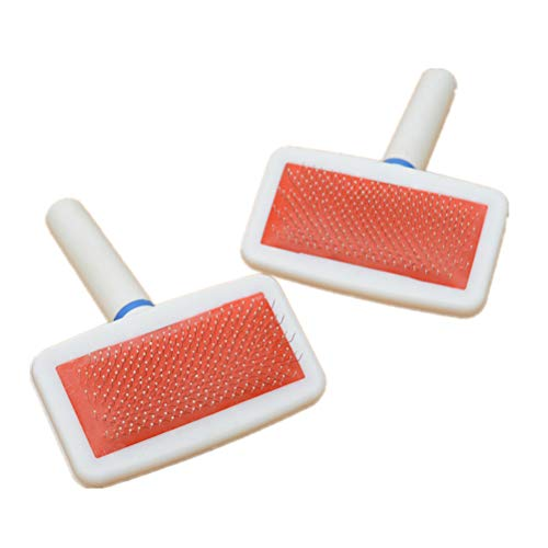 Atrumly Removedor de pelo de mascotas, cepillo peine de depilación con cabeza protectora de peine de airbag, fácil de limpiar, removedor de pelusas para muebles, sofá, alfombra y ropa de cama
