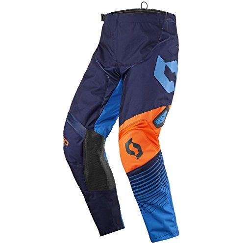 Scott 350 Track Pantalon de Motocross Kids 2017 Bleu/Orange