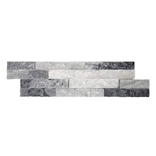 Parement mural en pierre naturelle fine épaisseur - alaska - 13 pcs