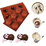 2pcs Hot Chocolate Bomb Half Circle Baking Mold, How to Make Hot Chocolate Bomb with Marshmallows, The New Way to Enjoy the Milk (2pcs)