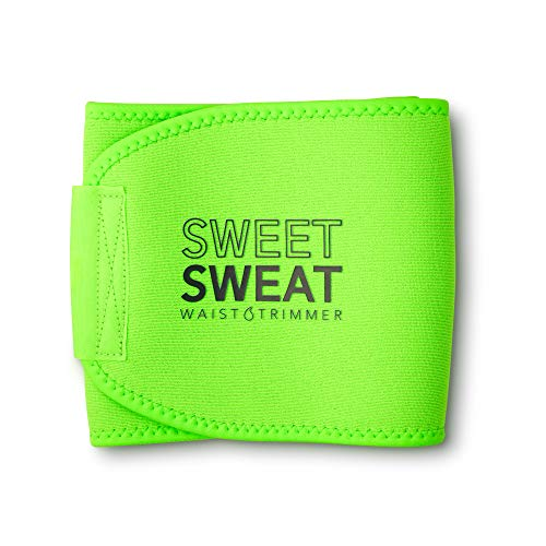 Sweet Sweat Waist Trimmer - Neon Green   Premium Waist Trainer for Men & Women (Medium)
