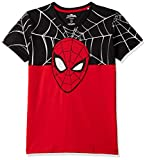 Spiderman By Kidsville Boy's Plain Regular fit T-Shirt (STY-18-19-001764 Red 7-8 Years)