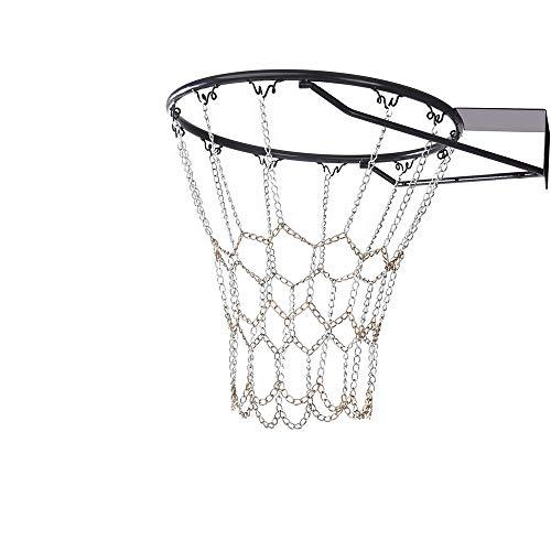 YGHH Rete da Basket per Esterno, Rete da Basket Durevole, Rete da Basket, Standard Resistente Rete da Basket in Metallo Utilizzato in Campi da Basket