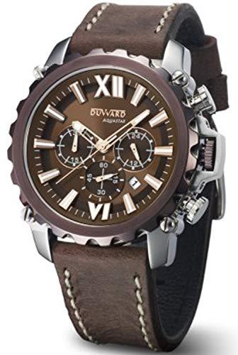 Reloj duward Hombre Correa Piel Marron, cronografo.10ATM. D85516.00