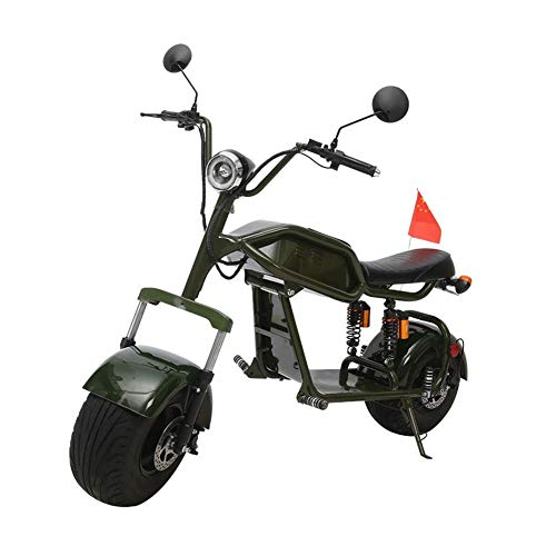 Scooter EléctricoMotocicleta Off-Road Retro Harley Bicicleta eléctrica Hombres y Mujeres Adultos Rueda Grande Scooter eléctrico Bicicleta Velocidad máxima 45 (km/h) Motor 1000w