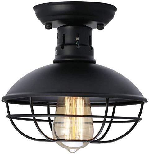 LSLRY Lumière Plafond rétro, Rustique Loft Applique Murale lumière Vintage pour plafonds (Ampoule Non Inclus) (Classe énergétique A)