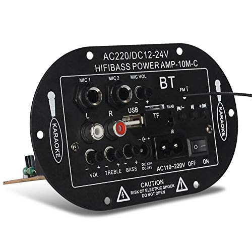 Amplificador de Coche 12V 24V 220V Tres Usos SF-2MIC Amplificador Digital para Coche Monófono Tablero Amplificador con Función Bluetooth Incorporada